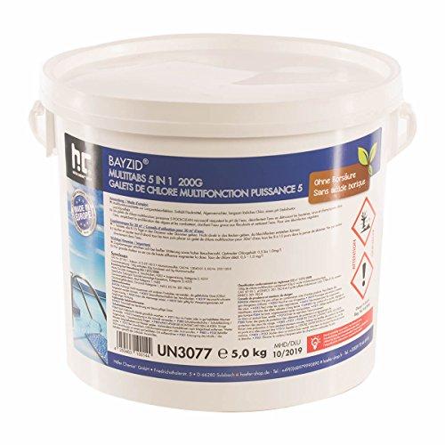 1 x 5 kg Chlore Multifonction en galets de 200g