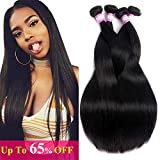 FQ Peruvian Straight Human Hair 4 Bundles (26 28 30 30) 10A Unprocessed Peruvian Virgin Human Hair Weave Bundles Straight Human Hair Bundles Peruvian Long Straight Hair Extensions 4 Bundle Deals