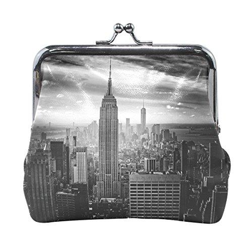 Leather Coin Purse Clutch Pouch Handbag with New York City Walletfor Women Girls - New York Hut