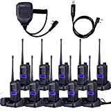 10-Pack NKTECH UV-82 Plus VHF UHF Dual Band CTCSS Ham Two Way Radio Transceiver Walkie Talkie 1800mAh 7.4V Li-ion Batteries Accessories Warranty + 1X Cable + 1X Speaker