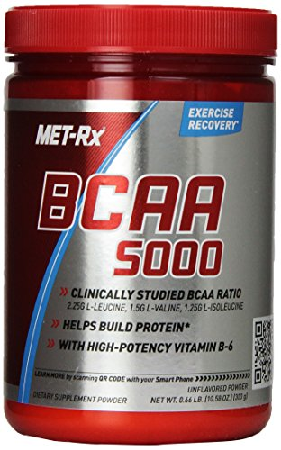 MET-Rx BCAA Powder Unflavored, 300 grams
