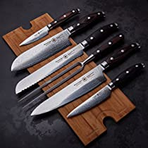 STERNSTEIGER 7PCS DAMASCUS KNIVES SET WITH (13 MONTHS WARRANTY EXCLUSIV SET)/ BLACK FRIDAY SPECIAL !!