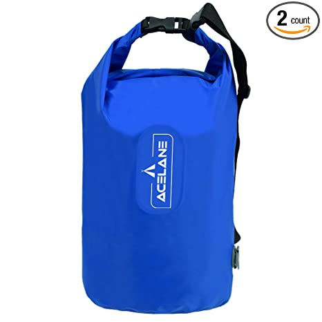 3403121c4715 Acelane Waterproof Dry Bag Inflatable Pillow Compression Sack Gear Bag  Adjustable Shoulder Strap for Kayaking Floating