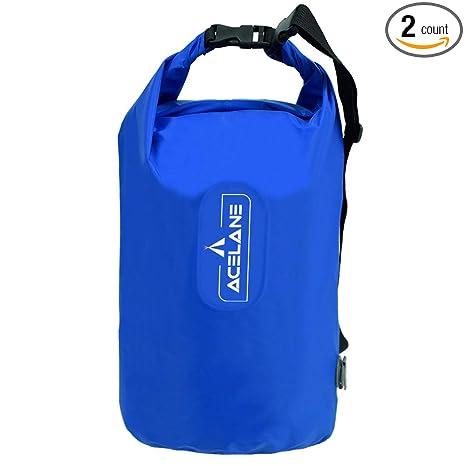9c5b48d21e Acelane Waterproof Dry Bag Inflatable Pillow Compression Sack Gear Bag  Adjustable Shoulder Strap for Kayaking Floating