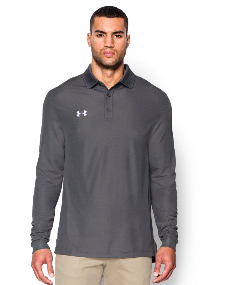 5901c07c7 Amazon.com   Under Armour Men s UA Performance Long Sleeve Polo X-Large  Graphite   Clothing