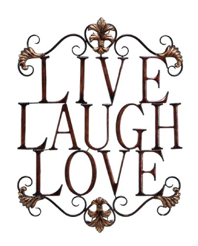 Live Laugh Love Wall Decor looks great in small patio decor