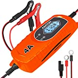AIMTOM Smart Battery Charger 4 Amp 6/12V Fully Automatic Maintainer 8-Stage Charging Process