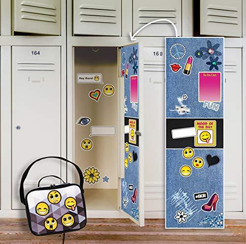 BirthdayExpress Denim School Supplies Locker Decal Decoration and Emoji -