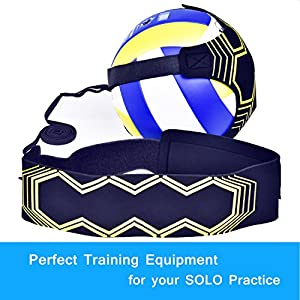 U-picks Volleyball Training Equipment Aids, Non-Interference Durable Solo Serve, Spike and Hitting Trainer -Extra Fingers Sleeves for Beginners & Experts from CM Ltd Co.