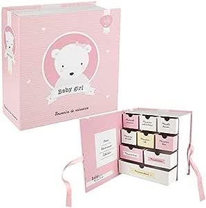 Estuche grande de recuerdos de nacimiento para bebé – 9 cajas – niña: Amazon.es: Hogar
