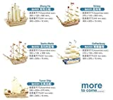 Coeus 3d Wooden Puzzle / DIY Model - 5 Pcs Sailing Military Ship (Gothenburg, Santa Maria ,Zhenghe,tower Ship and Victory) -Educational Games for Kids / 3d Puzzles for Adults