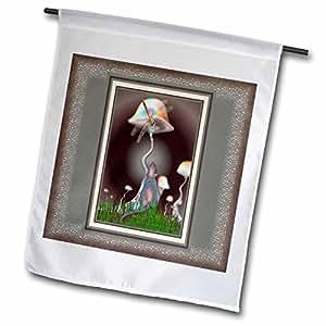 mimulux Fanasy - MOUSE and DRAGONFLY fantasy fairytale magic animal mushroom mystery friendship friends - 18 x 27 inch Garden Flag (fl_24839_2)