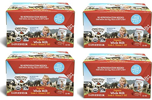 Organic Valley djQFfu, Organic Milk Boxes, Whole Milk, 6.75 Ounces (Pack of 48) by Organic Valley (Image #1)