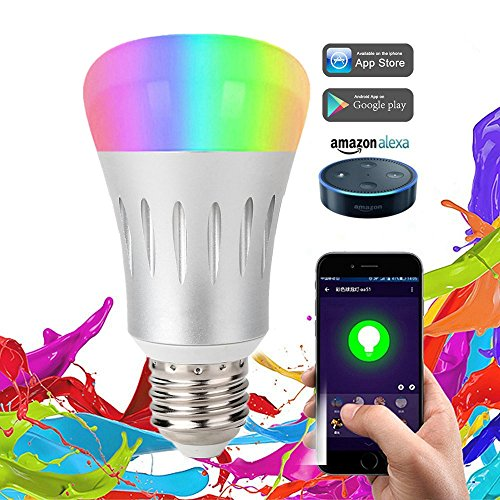 Smart LED Light Bulb,Night Light Bulbs,16 Million Multi-Color Dimmable,Work with Alexa,Wi-Fi Remote Control,9 Watts(70 Watts Equivalent),No Hub (Temperature Range Remote Bulb)