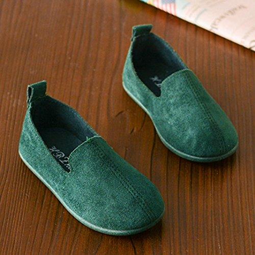 JIANGFU Mädchen-Normallack Weiche Untere Prinzessin Beschuht Zufällige Schuhe Einzelne Schuhe, Baby-Mode-Kind-Mädchen-Normallack-Beiläufige Einzelne Leder-Prinzessin Shoes Green