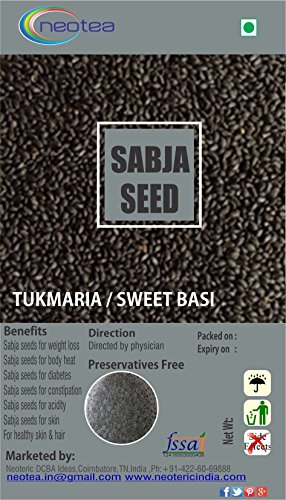 Neotea Basil Seeds | Tukmariya | Sabja Seeds, 300g by Neotea