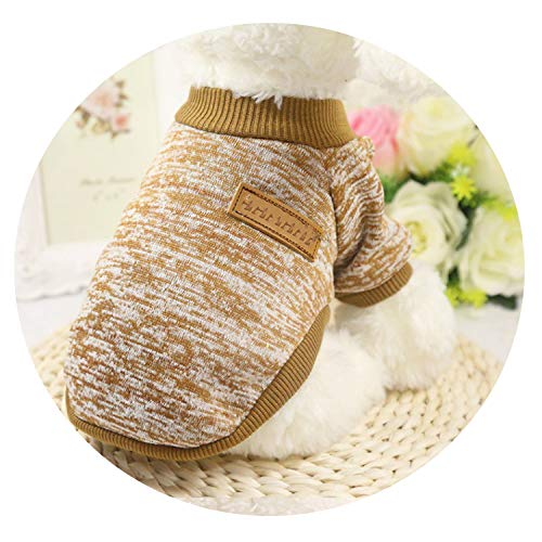 Classic Warm Pet Clothes Soft Pet Dog Sweater Clothing for Dog Clothes Pet Outfit,Khaki,M]()