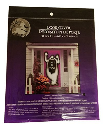 Halloween Door Cover Creepy Spooky Stickers Decor Home Window Gel Clings Decorations Haunted House (Homemade Halloween Makeup Zombie)