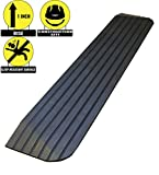 RK Safety RK-RTR01 1'' Rise Solid Rubber Power WheelChair Scooter Threshold Ramp (1 Pc)
