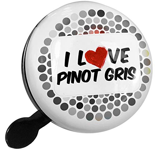 (NEONBLOND Bike Bell I Love Pinot Gris Wine Scooter or Bicycle Horn)