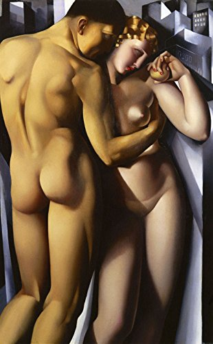 Tamara de Lempicka - Adam and Eve, Size 14x24 inch, Poster art print wall dcor