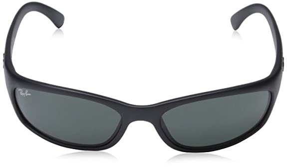 Amazon.com  New Authentic Ray-Ban Active Lifestyle RB 4115 601S 71 57mm  Matte Black   Green Small  Shoes f391751b724f