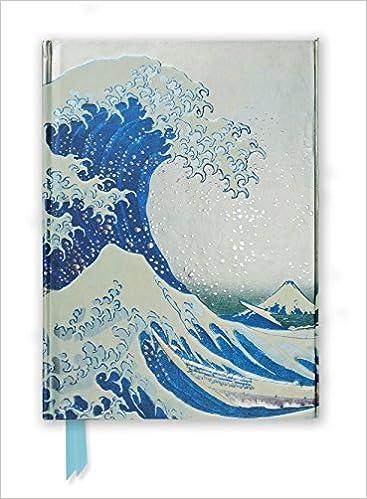 hokusai the great wave foiled journal flame tree notebooks