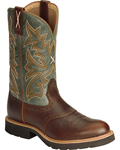 Twisted X Men's Pullon Work Boot Round Toe Cognac 9.5 D(M) US by Twisted X (Image #7)