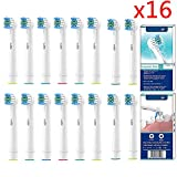 Toothbrush Head Compatible for Oral B Pack of 16, VINFANY Replacement Toothbrush Heads Oral-b Compatible, for Braun Electric Rechargeable Toothbrush, Crossaction Flossaction Vitality 3D All Compatible