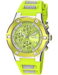 Invicta Womens BLU Quartz Stainless Steel and Silicone Casual Watch, Color:Green (Model: 24196)