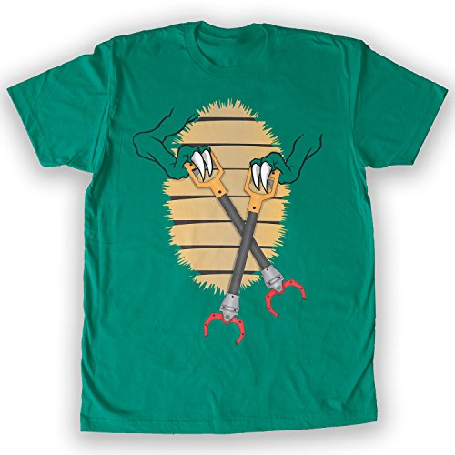 Death By Novelty - Unstoppable T-Rex Costume Men's Fashion T-Shirt Kelly Green -