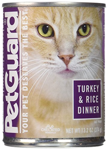 Pet Guard Turkey and Rice Food for Cats, 13.2-Ounce Cans (Pack of 12)