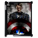 Personalized design Captain America iPad 2/3/4 Case Cover