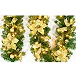 8.6 Inch Glitter Artifical Wedding Christmas
