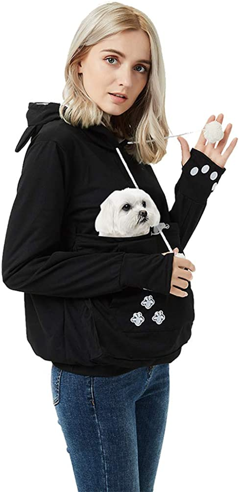 Amazon Com Unisex Pet Carrier Hoodie Cat Dog Pouch Holder Sweatshirt Shirt Top Clothing