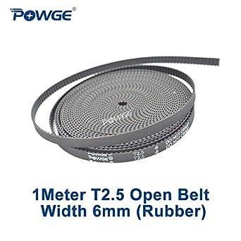 Ochoos 1 metro T2.5 abierto correa de distribución ancho 6 mm paso ...