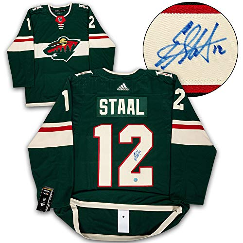 (AJ Sports World Eric Staal Minnesota Wild Autographed Adidas Authentic Hockey Jersey)