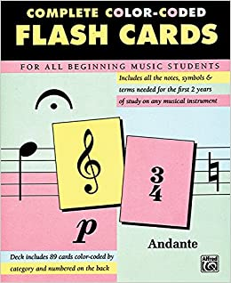 picture relating to Free Printable Music Flashcards referred to as Extensive Shade Coded Flash Playing cards for All Starting Songs