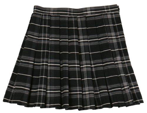 クリアストーン Teens Ever 女子高生 高校 中学 制服 スカート チェック (ブラック グレー) M Lサイズ L