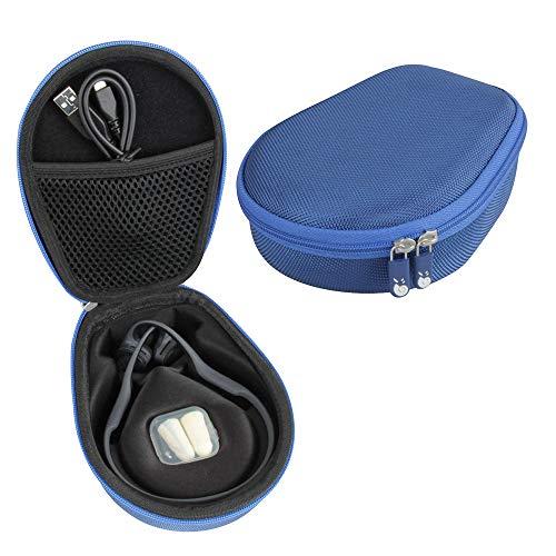 Hermitshell Hard Case fits AfterShokz Trekz Air/AfterShokz Aeropex/Titanium Mini Open Ear Wireless Bone Conduction Headphones AS650 (Blue)