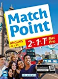 Match point 2de, 1re, Tle Bac Pro (Anglais) - Pochette élève