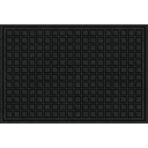 Textures Blocks Entrance Door Mat, 2-Feet by 3-Feet, Onyx