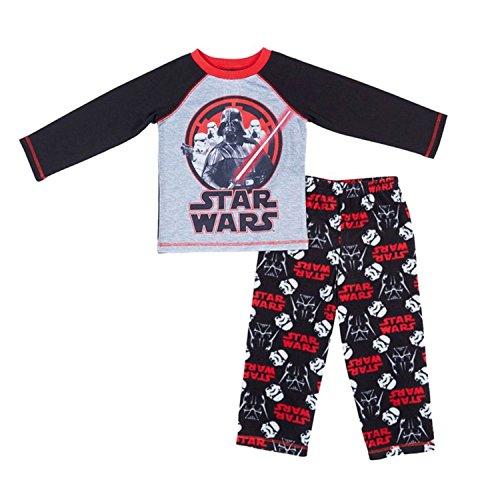 Star Wars 2 Piece Pajama Sleepwear Set Big Boy Size 7 Black
