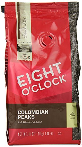 eight-oclock-colombian-peaks-ground-coffee-11-ounce-bags-pack-of-6-by-eight-oclock-coffee