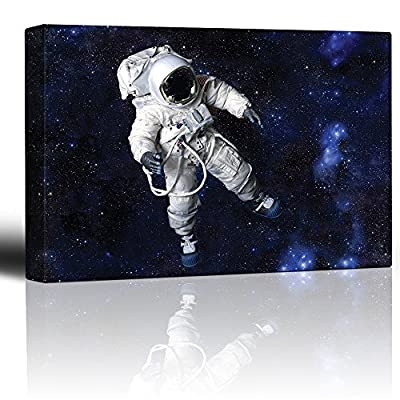 Fully Equipped Astronaut Floating in a Blue Starry Galaxy, Premium Product, Gorgeous Visual
