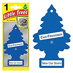 Magic Tree Little Trees Car Home Air Freshener Freshner Smell Fragrance Aroma Scent - NEW CAR (120 Pack)