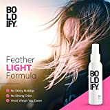 BOLDIFY Hair Thickening Spray - Get Thicker Hair in 60 Seconds - Stylist Recommended Hair Thickening Products for Women and Men - Hair Volumizer + Texturizing Spray for Hair Volume and Root Lift -4 oz