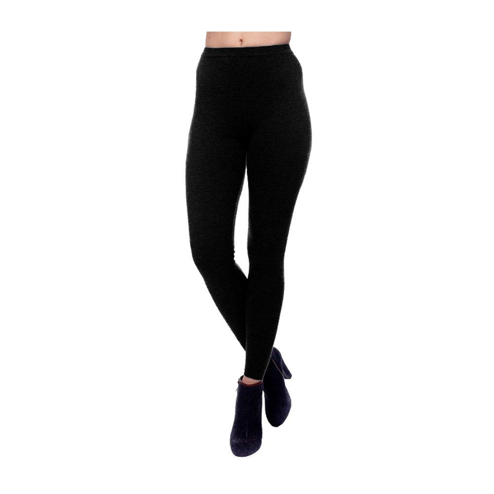 Parisbonbon Women's 100% Cashmere Classic Legging Color Black Size S by Parisbonbon