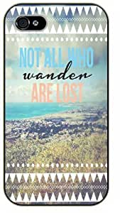 iPhone 6 Not all who wander are lost, landscape - black plastic case / Keep Calm, Motivation and Inspiration