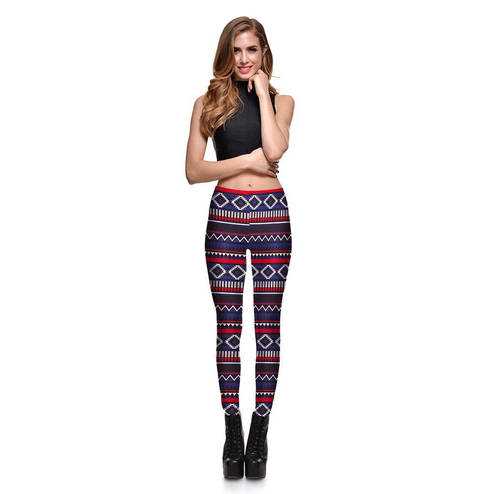 870458f1ef672b Hoyou Sexy Smooth Patterned Pants Slimming Tribal Galaxy Print Leggings For  Women Girls Teen: Amazon.co.uk: Clothing
